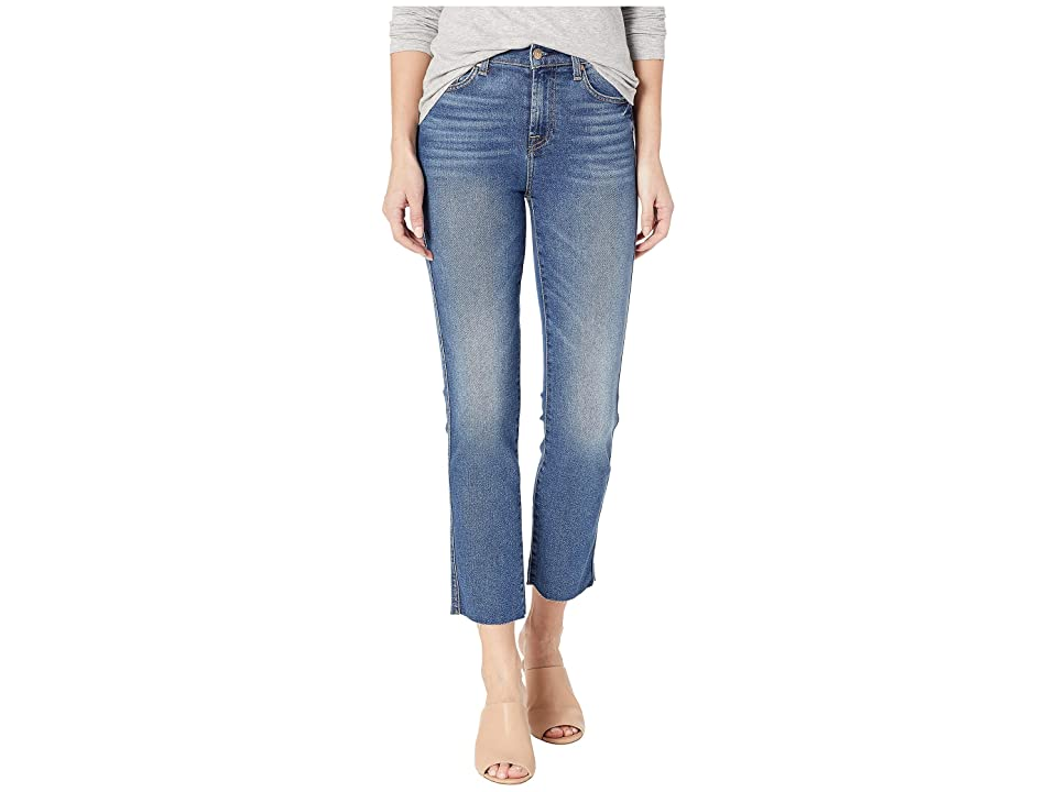 7 For All Mankind Edie with Cut Off Hem and Zip Fly in Femme (Femme) Women's Jeans, Red