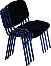 Modern Stacking Office Chairs or Offices, Training, Conferences, Churches, Community Centres and Home (Black)