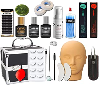 QBS Complete Training Kit for Eyelash Extensions   Wimperverlengingsset   Inclusief lijm, verwijderaar, FAUX MINK wimpers,...