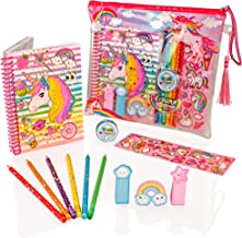 Style Girlz Deluxe Unicorn Stationery Set - Girls Colouring Pencils Journal Notebook Pencil Case Art Kit