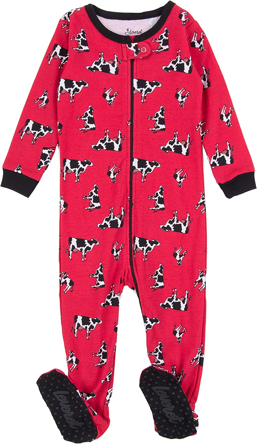 shop Leveret National products Kids Pajamas Baby Boys Footed Girls 100% Sleeper