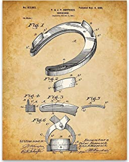 Horse Shoe Patent - 11x14 Unframed Patent Print - Great Stable Decor or Gift Under $15 for Equestrian