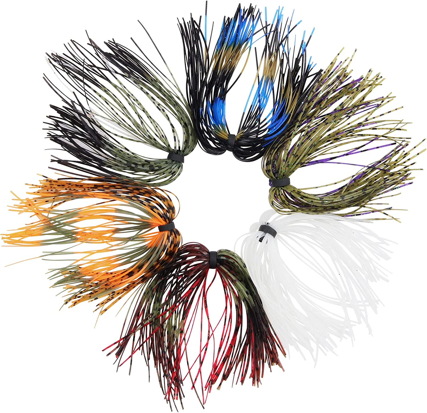 Silicone Jig Skirts DIY for Rubber Fishin Popular brand Lures NEW Fishing Bass