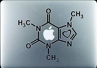 Hyggeligly Made Inc Caffeine Molecule with Heart Decal Sticker Vinyl MacBook Pro Air Apple Logo 11