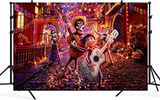 zlhcgd 7x5FT Coco Photography Vinyl Photo Background for Kids Birthday Party Backdrops Decoration