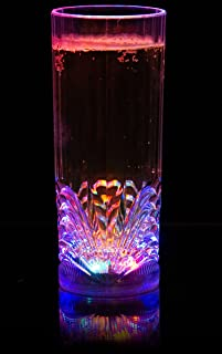 Liquid Activated Multicolor LED Highball Glass ~ Fun Light Up Drinking Glass - 9.5 oz.