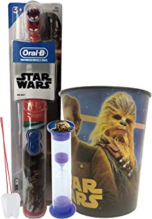 Powered Toothbrush Sets with Your Favorite Star Wars Characters (3 Piece, Chewbacca)