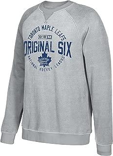 adidas NHL Mens Classic Six Fleece Crew