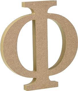 "6"" Wooden Greek Letter Phi - Fraternity/Sorority Premium MDF Wood Letters (6 inch, Phi)"