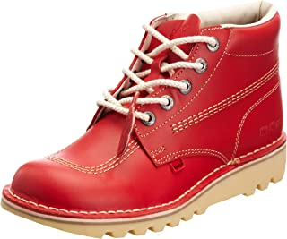 Kick Hi Mens Red Leather Boots