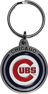 Football Fanatics MLB Chicago Cubs Rugged Wood Keychain