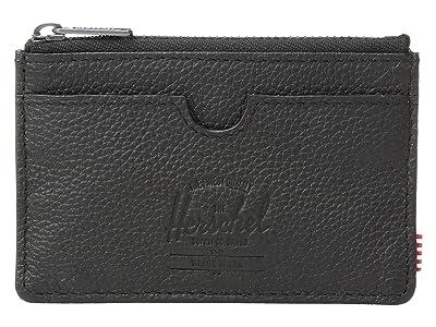 Herschel Supply Co. Oscar RFID (Black Pebbled Leather) Wallet Handbags