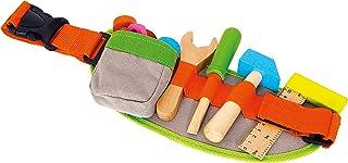 small foot 4745 justerbart verktygsbälte inklusive färgglada träleksakstillbehör och tillbehör från 3 år