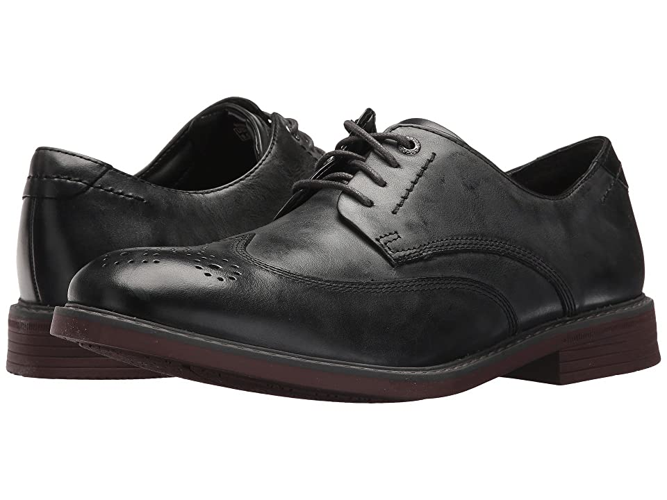 Rockport Tailor Guide Wingtip (Dark Shadow Leather) Men