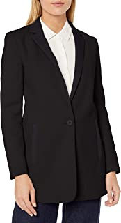 Armani Exchange A|X Women's Long Elegant Blazer with Pockets and One Button