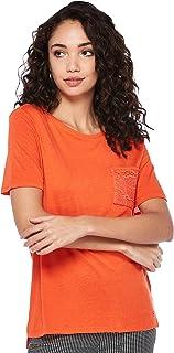 Tommy Hilfiger Women's Ww0Ww22575-Orange T-Shirts