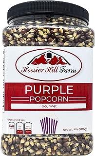 Hoosier Hill Farm Gourmet Purple, Popcorn Lovers 4 lb. Jar.
