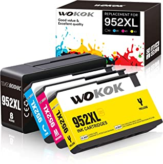 WOKOK Remanufactured Ink Cartridge Replacement for HP 952XL Ink Cartridges Combo Pack, with Updated Chips for HP OfficeJet...