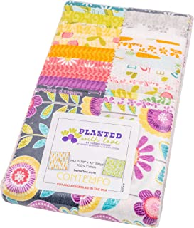 Cherry Guidry Planted with Love Strip-Pies 40 2.5-inch Strips Jelly Roll Benartex