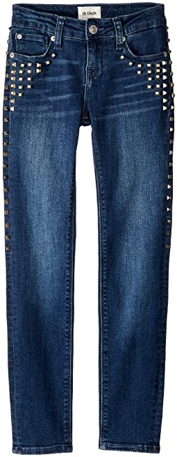 Skinny with Studs in Dark Stone Wash (Big Kids)