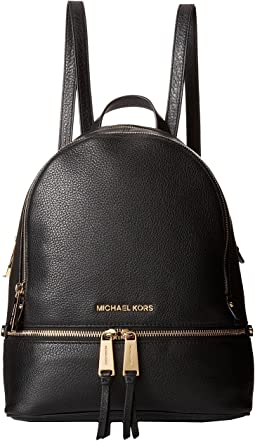 f6a9f40a72e0 MICHAEL Michael Kors. Rhea Zip Medium Slim Backpack.  258.00. Black