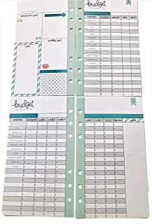Budget Planner Pages for Personal Planner, 26 Double-Sided, 6-Ring