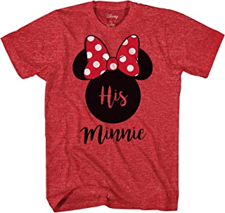 His Minnie Her Mickey Couples Valentines Adult Funny Disneyland Graphic T-Shirt