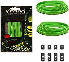 Xpand Lacing System– cordones elásticos planos de tensión ajustable, no ates más cordones–aptos cualquier par de zapatos - neón verde