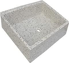 Terrazos Cantalejo Pilón Fregadero o Pila de Piedra parecida al Granito o Mármol de 55x45,5x20,5 cm. (Dálmata)