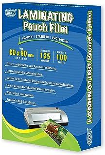 FIS Laminating Films 100 Sheets, 60 x 90 mm Size, 125 Microns - FSLM60X90N