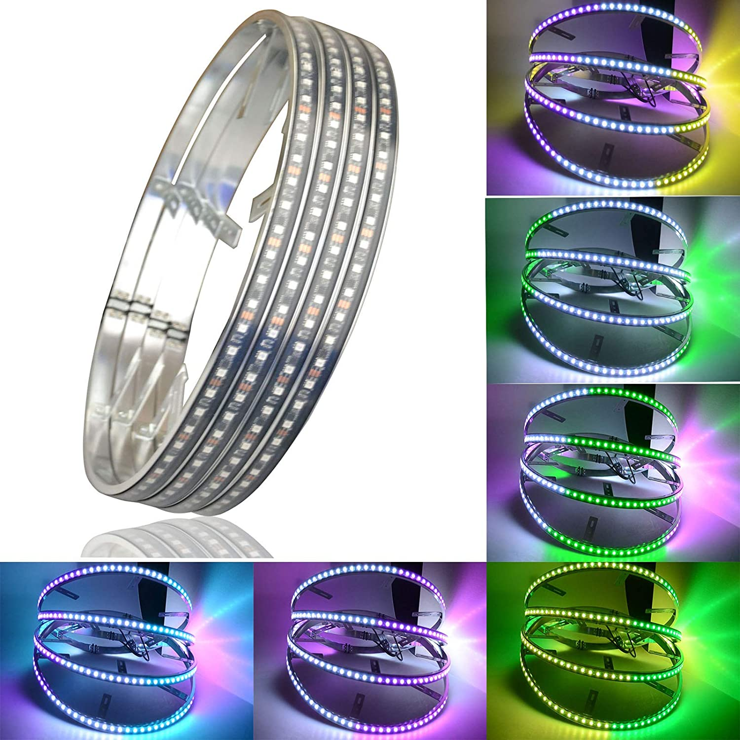JXOFROAD 17.5 inch rgb car Max 56% OFFicial store OFF tire Dream light wheel LED Colors 312