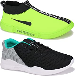 Camfoot Men Multicolour Latest Collection Sports Running Shoes-Pack of 2 (Combo-(2)-9174-9218)