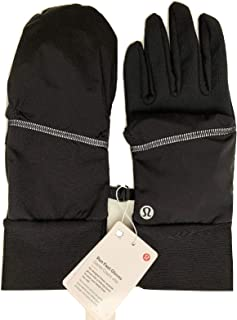 Lululemon Run Fast Gloves Black with Snaps Water-Repellent Waterproof - Run- Size XS/S
