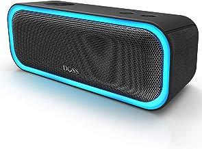 DOSS SoundBox Pro Altavoz Bluetooth inalámbrico, sonido estéreo de 20 W, graves mejorados, emparejamiento estéreo, luz LED múltiple, larga duración de la batería, buen regalo