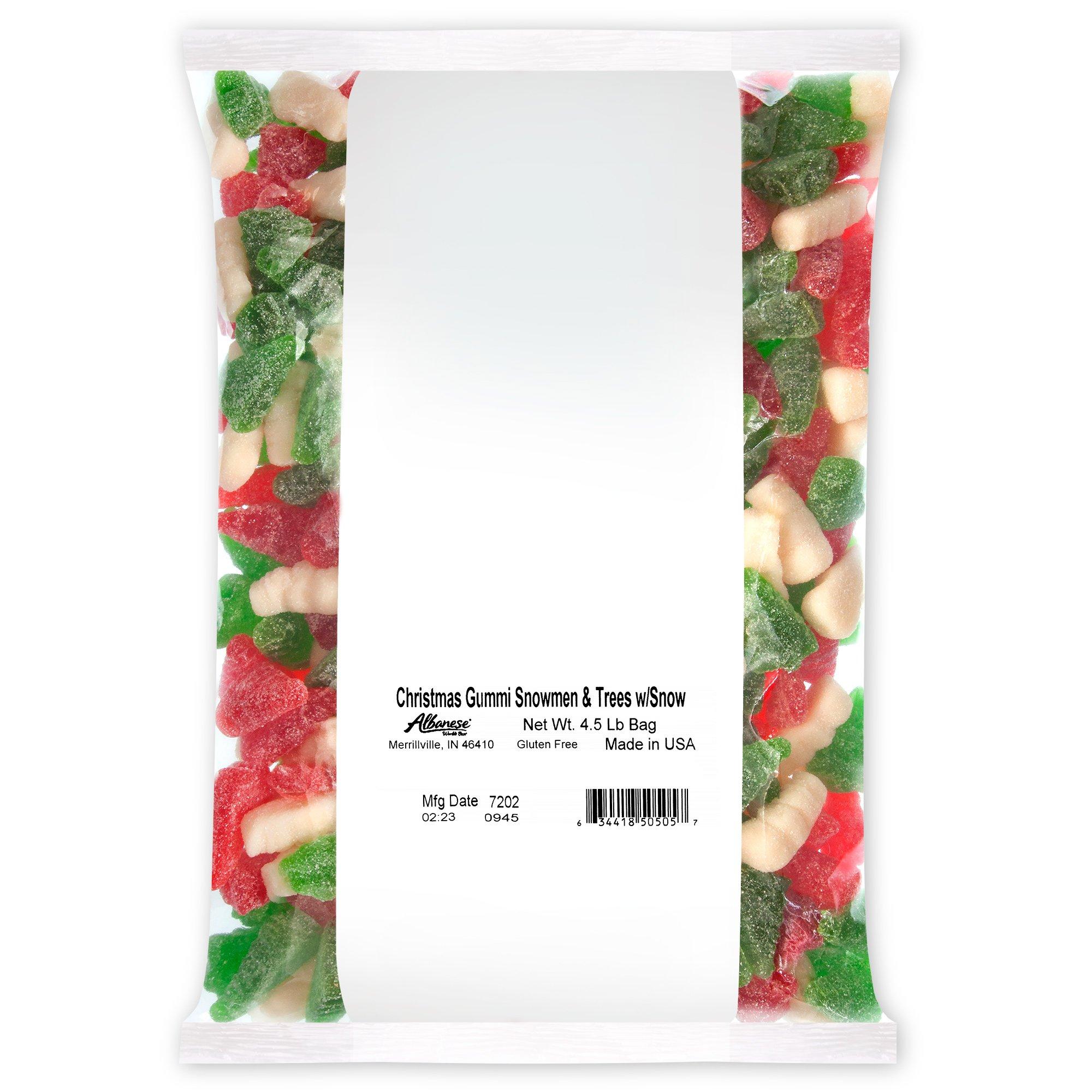 Albanese Candy, Christmas Gummi Snowmen & Trees with Snow, 4.5 Pound Bag