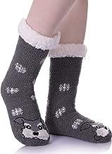 RONGBLUE Womens Cute Cartoon Animal Fuzzy Cozy Non-Slip Slipper Socks Soft Warm Microfiber Winter Home Socks