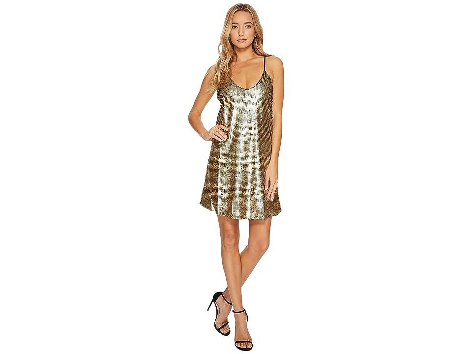 Bishop + Young Shift Dress (Matte Gold) Women