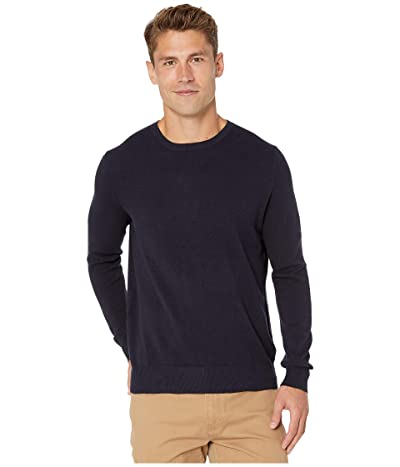 J.Crew Cotton-Cashmere Pique Crewneck Sweater (Darkest Indigo) Men