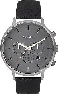 s.Oliver Reloj Multiesfera para Hombre de Cuarzo con Correa en Cuero SO-3868-LM