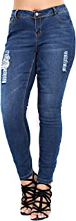 Betsy Red Couture Women's Plus Size Distressed Jeans (24 B006BX Blue)