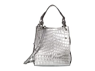 Rebecca Minkoff Kate Mini North/South Tote (Silver) Handbags