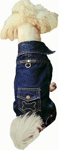 Oz International Dog Jeans Jacket Vest Shirt Blue Washed Denim Coat Classic Washed Denim Jacket for Cats Small Dogs l...