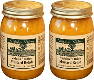 Vidalia Valley Onion Mustard Relish, 17 Oz (Pack of 2) ALL Natural, NO Preservative