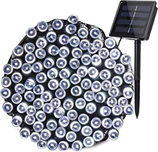 AcaJoe Solar Powered Fairy String Lights Outdoor 8 Modes Waterproof le Lighting (1 Pack 72 Feet 200 LED, White)