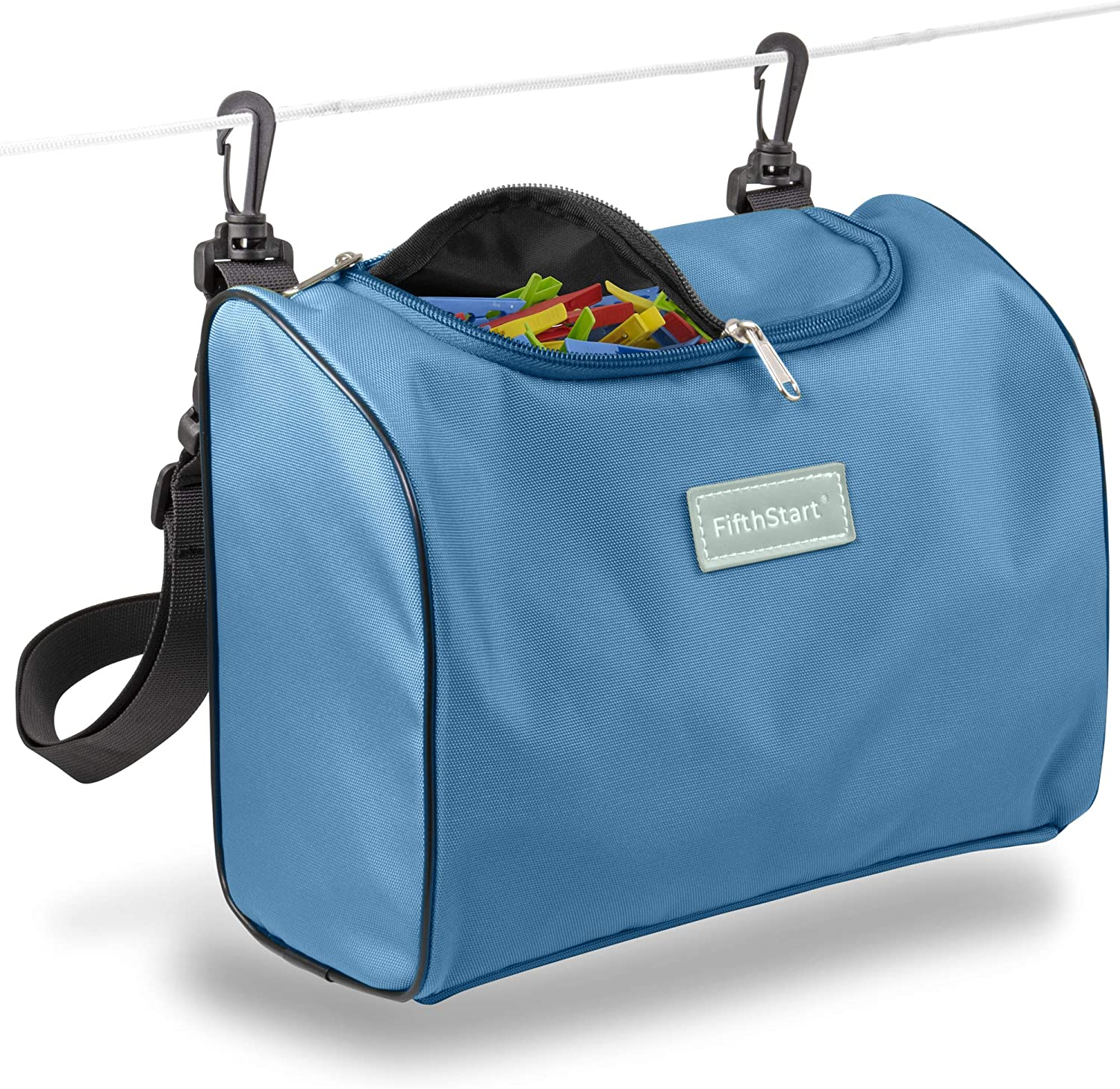 Zip Top Same day shipping Clothespin Bag with Double Strap. Clips Award-winning store Waist Shoulder
