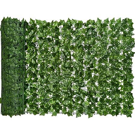 YQing Pantalla de Cerca de privacidad Hiedra Artificial, Cerca de setos Artificiales y decoración de Hojas de Vid de Hiedra Falsa para decoración al Aire Libre, jardín (100cm x 300cm)