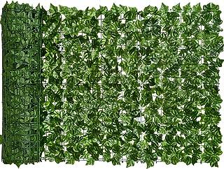 YQing Pantalla de Cerca de privacidad de Hiedra Artificial, Cerca de setos Artificiales y decoración de Hojas de Vid de Hiedra Falsa para decoración al Aire Libre, jardín (150cm x 250cm)