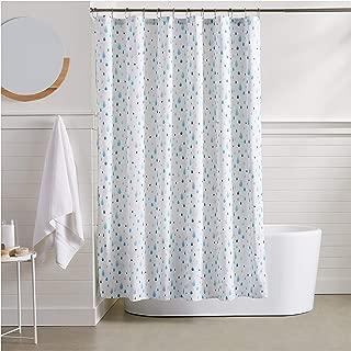 AmazonBasics Aqua Raindrop Shower Curtain - 72 Inch