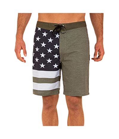 Hurley 20 Phantom Patriot Boardshorts (Medium Olive 1) Men