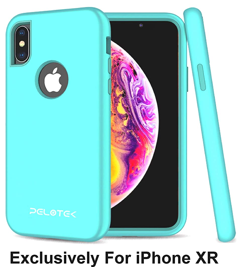 Pelotek; iPhone XR Aqua Blue Case, iPhone XR Teal Phone Case | Highly Engineered Premium Turtlebox Shockproof Fitted Case | Anti Scratch Shock Resistant | with Hard PC Bumper Frame Cover (Teal
